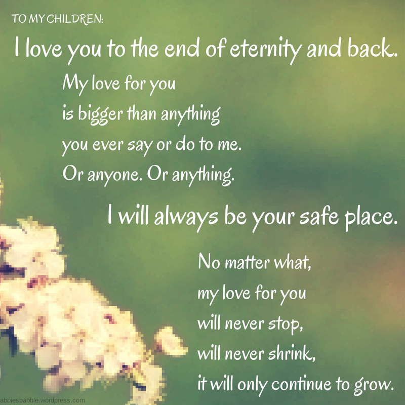Quotes Love You For Eternity: FOR MY CHILDREN
