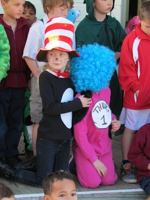 Cat in the Hat and Thing 1