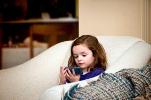 Girl on iPod