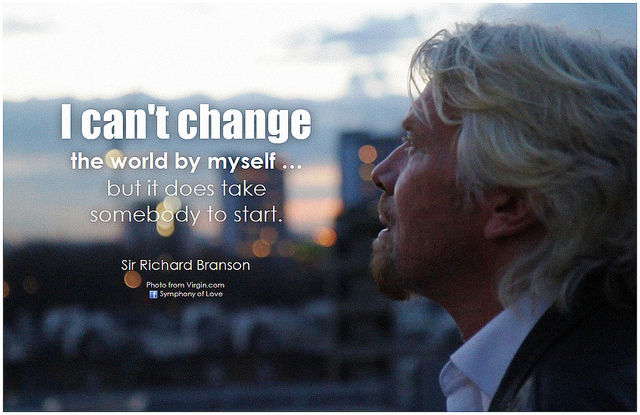 Branson Can't change the world alone