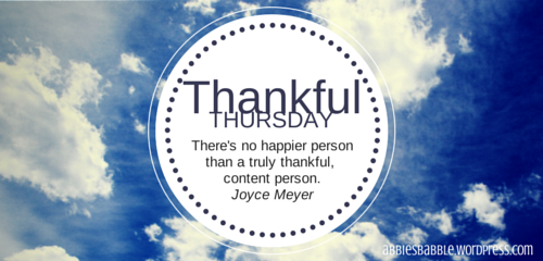 Thankful Thursday 1