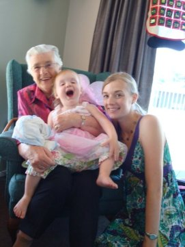 Christmas Day Gran often came to us if she wasn't up to travelling to her sons' - with a very enthusiastic fairy on her knee. This is one of my favourite photos of the three of us.
