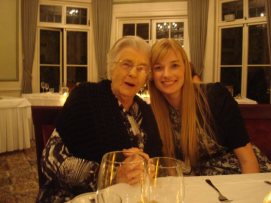 Gran and I at a family wedding 2012