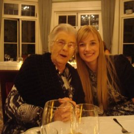 Gran and I at a family wedding 2012