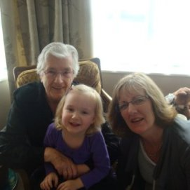 My Gran, my girl and my mum, Easter 2010