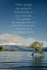 Finding healing in your wounds