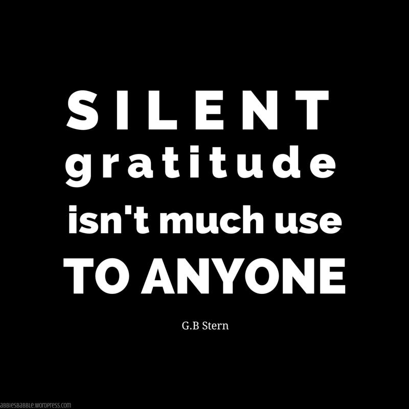 Silent Gratitude
