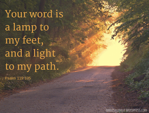 Your word is a lamp to my feet