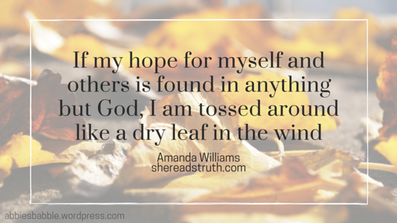 Hope found in God